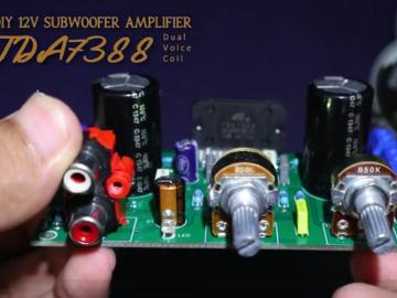 基于TDA7388 DIY 12V低音炮放大器,双线圈结构