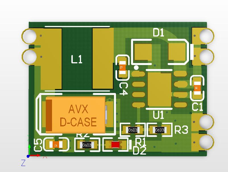 自己绘制 TPS5430 电源模块应用电路及PCB