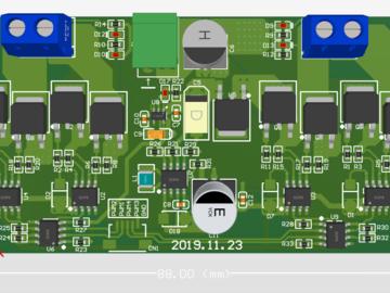 升级版恩智浦IR2104S半桥驱动 组成H桥   最大输入电压可达20V