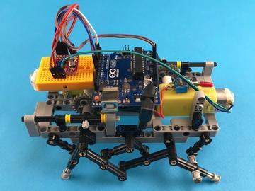 带有乐高,Arduino和3D打印部件的六足机器人
