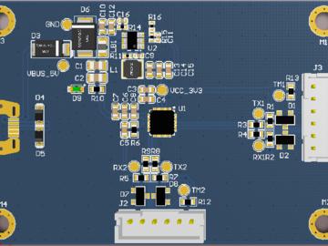 USB转双路串口的电路方案设计(原理图+pcb)
