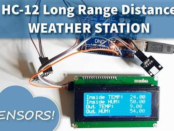 HC-12远程气象站和DHT传感器