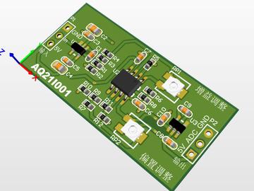 电流转电压信号放大模组(IV转换器)