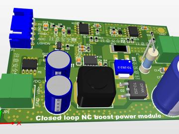 宽范围闭环数控升压电源(升压可达80V)