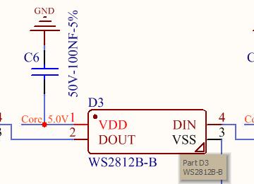 STM32驱动WS2812B-B电路方案设计(电路图+源码)
