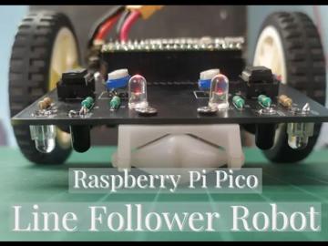 基于树莓派pico的线跟随机器人设计