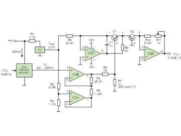 性价比超高的纯硬件的解决方案,轻松解决二氧化碳传感器的线性化问题