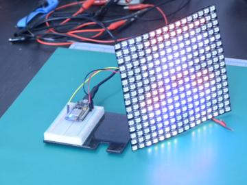 ESP8266 NeoPixel矩阵动画,按序播放JPEG文件