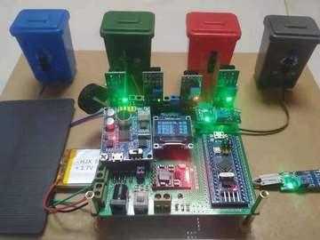 基于STM32单片机语音交互识别智能垃圾箱设计