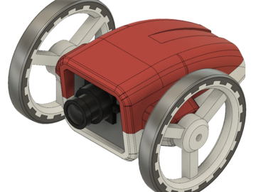 精巧呆萌系列之ESP32驱动的3D打印视频流机器人