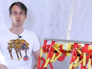 尝试让步行机器人像平衡两轮机器人一样工作