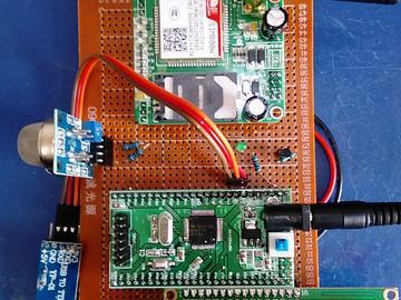 基于MSP430F149单片机的火灾烟雾温度检测GSM短信报警系统设计-(电路图+程序源码)
