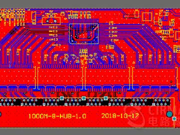 8口千兆交换机HUB瑞昱螃蟹RTL8370N电路方案设计(PCB+原理图)