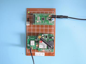 基于STM32单片机的GPS定位追踪系统GSM短信车辆追踪设计-万用板-电路图+程序+论文96