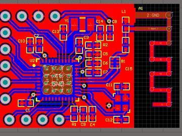 CC2541核心板电路方案(包含板载天线和外界天线接口,所有IO口引出)