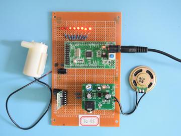基于STM32单片机的蓝牙音乐喷泉频谱彩灯音乐盒播放器设计-万用板-电路图+程序+论文56