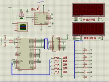 直流电机调速(proteus+源码)