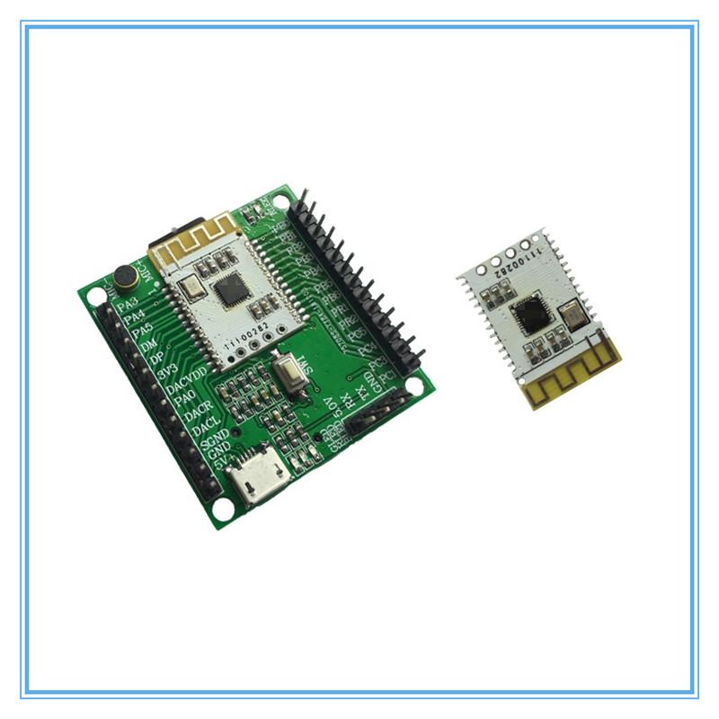 成本最低的蓝牙音频数传BLE模块方案资料开源 支持串口AT控制 DAC输出 I2S音频输出