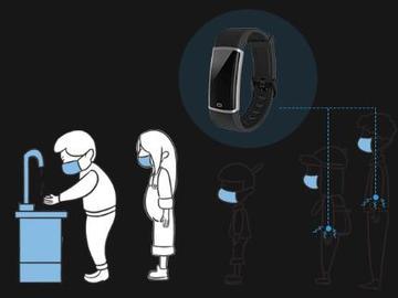 可帮助人们与Covid-19冠状病毒战斗的社交距离腕带