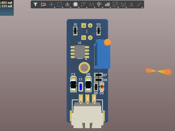 一路灰度传感器电路方案设计(pcb)