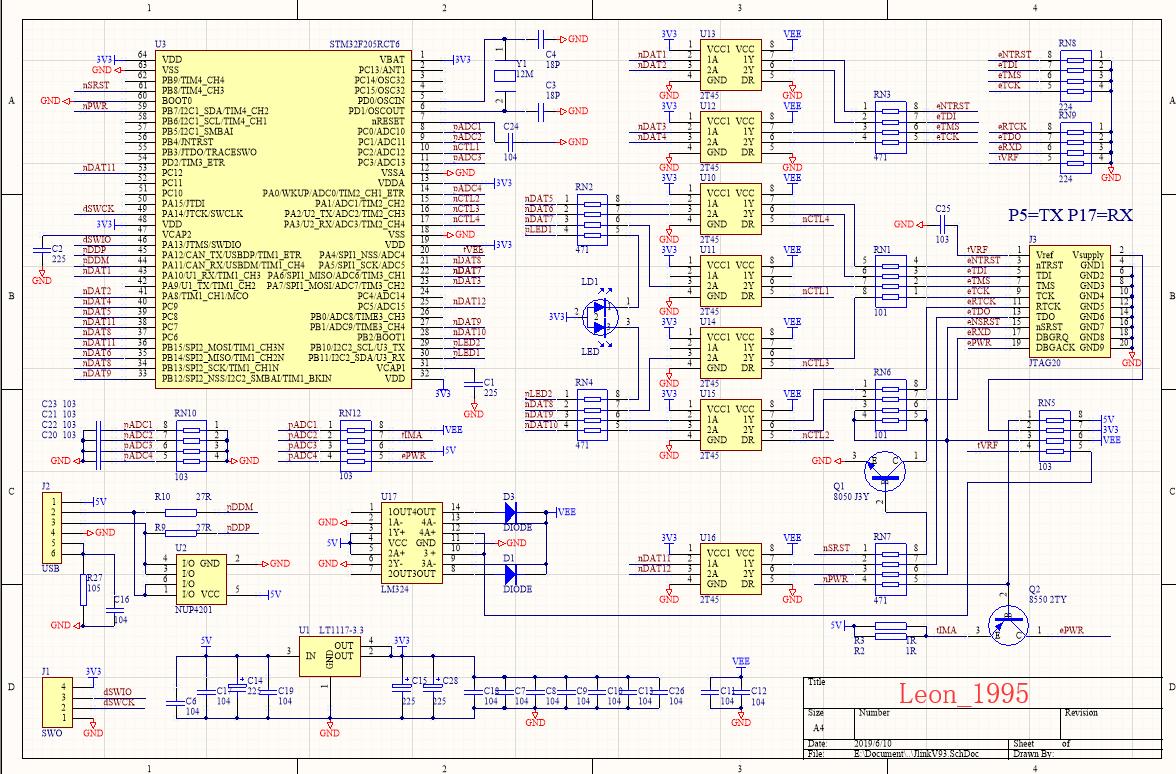 JlinkV9.3的原理图与PCB