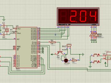 51单片机超声波测距系统仿真设计