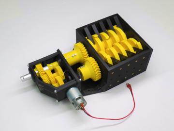 利用3D打印造一个碎纸机