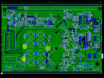 NJM2195音频处理+TDA7492车载改装功放 原理图 PCB