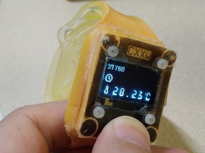 厉害了,自制手表温度计,可穿戴温度计,有源码以及PCB文件