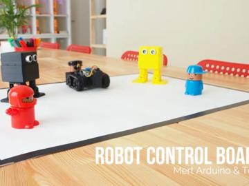 集追踪,线性跟随,相扑,绘图和避障功能于一体的5合1 Arduino机器人