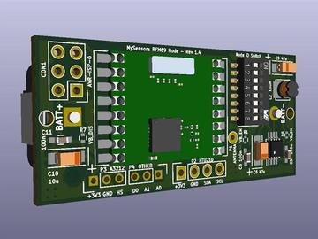 Mysensors RFM69W多传感器节点(CR123)电路方案(原理图)