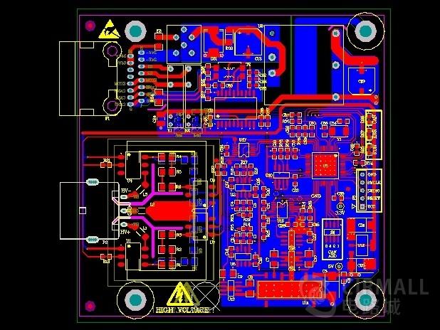 电池管理绝缘检测模块原理图/pcb资料