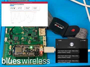 基于蓝牙和蜂窝 IoT 的工作压力监测器