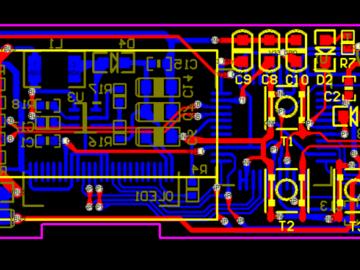 二代USBKEY带OLED显示屏的U盾protel设计电路设计方案(原理图+PCB文件)
