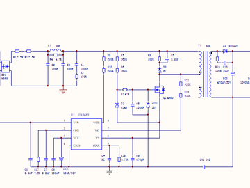 25W可控硅调光电源电路方案设计(原理图+pcb)