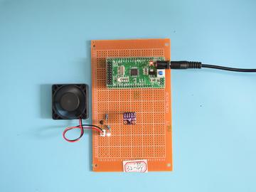 基于STM32单片机的手势控风扇PWM转速启停系统设计-万用板-电路图+程序+论文98
