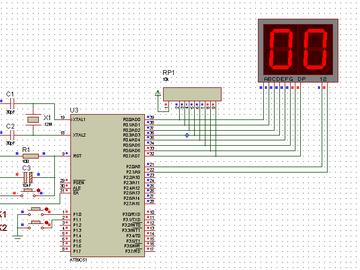 基于单片机秒表数码管显示(proteus仿真+汇编程序)