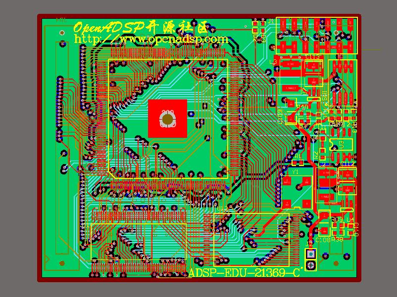 ADI ADSP-21369核心板PCB及电路图,仅供参考!