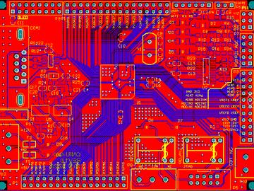 C8051F020开发板方案板电路图原理图PCB 可直接打样
