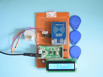 基于STM32单片机的射频RFID人数计数系统设计-万用板-电路图+程序+论文93