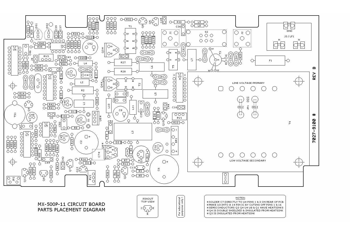 高频焊台 奥科MX-500P 电路图外泄