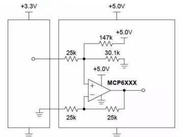 基于差动放大器的3.3V转5V升压电路设计