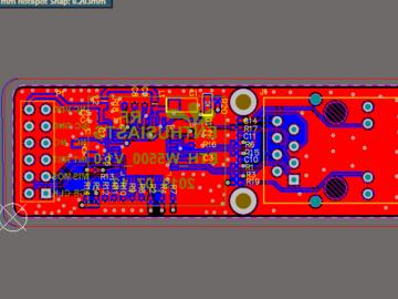 【北极星】W5500 t以太网控制模块 W5500电路原理图PCB工程文件