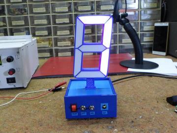 基于Arduino微控制版实现3D打印单位数的时钟计数电路方案设计(原理图+代码+3D打印文件)