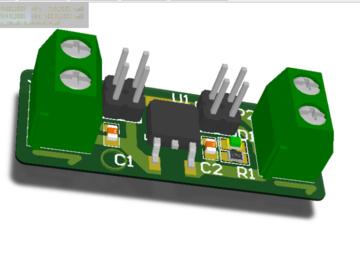 78M05 5v电源模块 AD设计硬件原理图+PCB+3D封装库文件