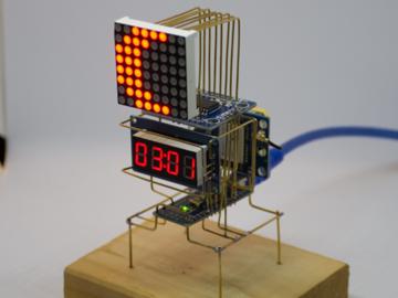 通过Arduino驱动的天文时钟