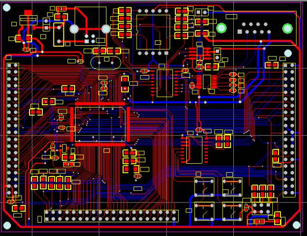CY7C68013-128AC USB2.0最小系統開發板protel硬件原理圖+PCB文件