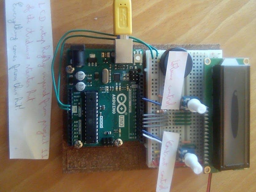莫爾斯編碼器,并在LCD屏幕上顯示字符