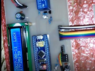 基于STM32F103C8T6单片机的指纹密码锁