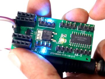 基于74LVC245的5V转3.3V逻辑电平转换器电路设计 ,可用于连接Arduino和树莓派的传感器供电